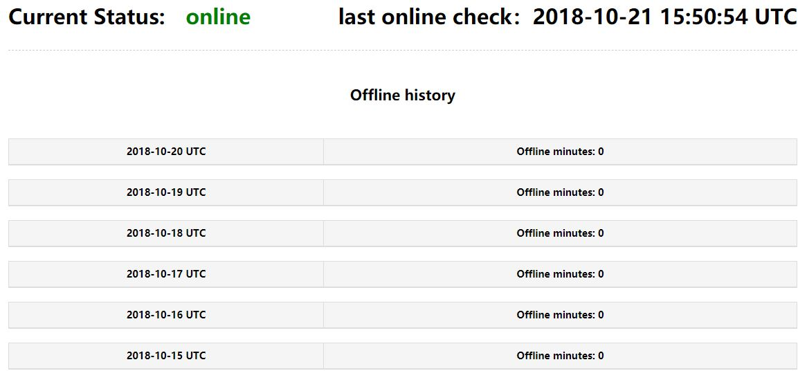 Nodo online visualizzato su storage.samos.io