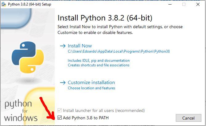 add Python to PATH